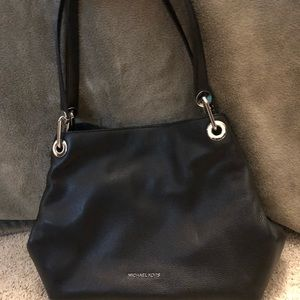 Michael Kors Raven Large Leather Satchel Bag